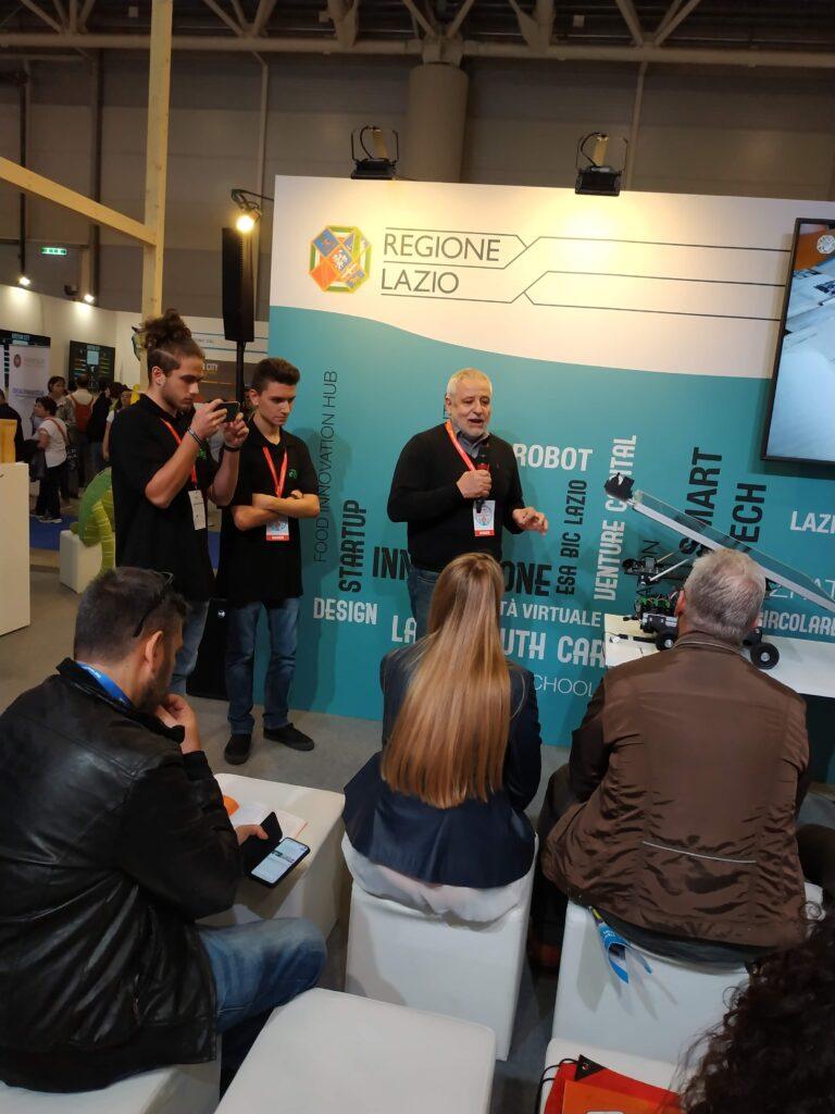 Presentazione allo stand della Regione Lazio al MFR19